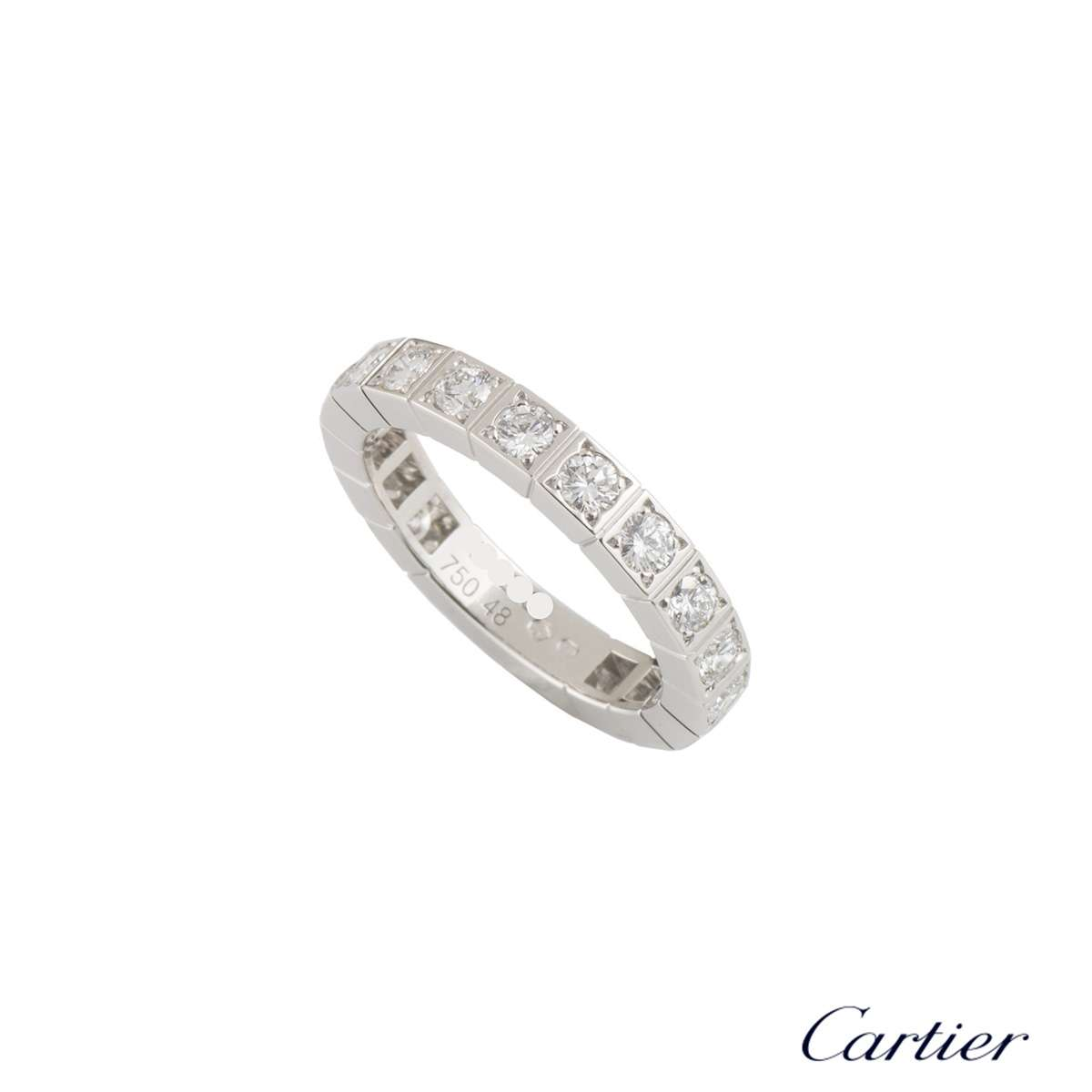 Cartier White Gold Diamond Lanieres Ring
